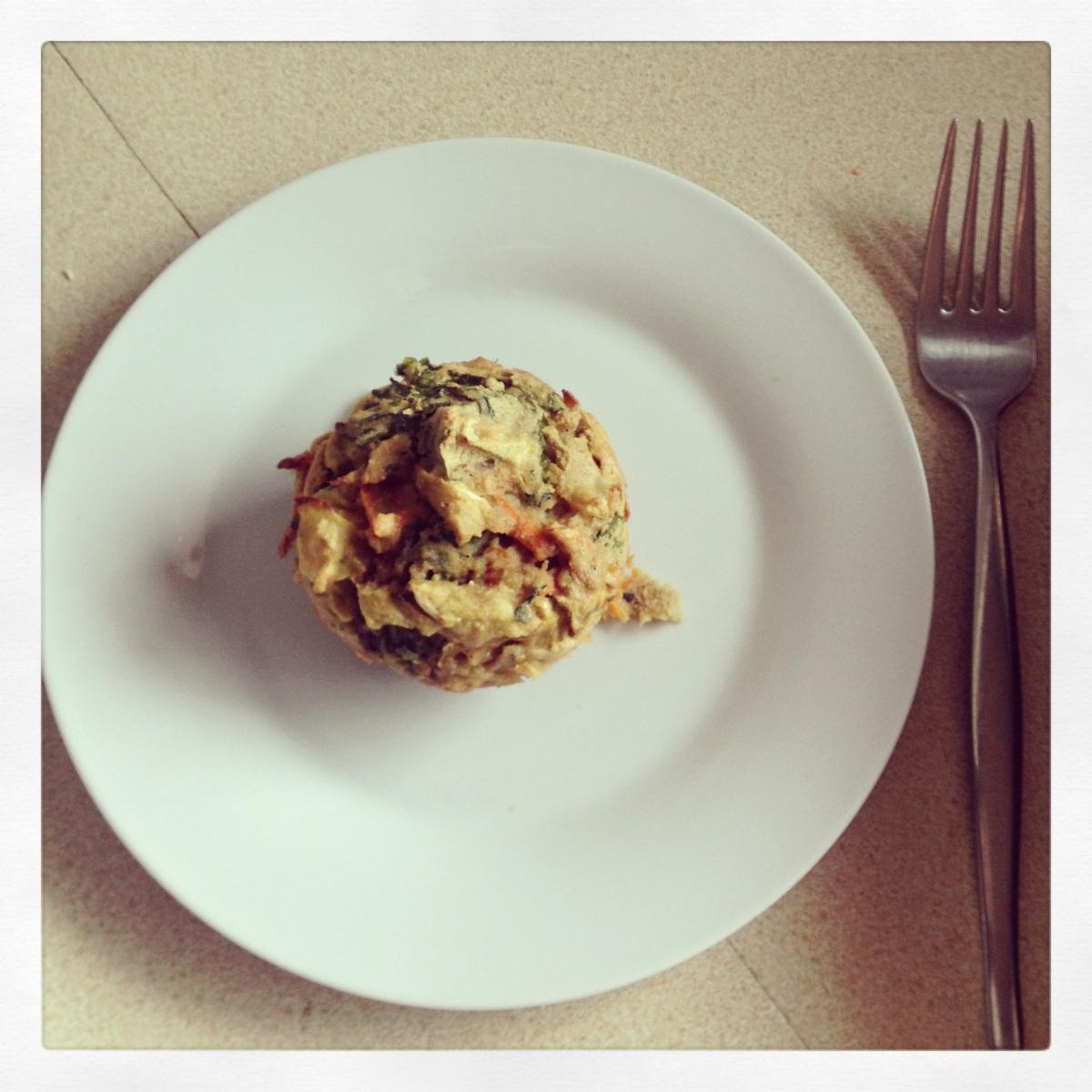 Kale, Zucchini and Carrot Savoury Muffins.