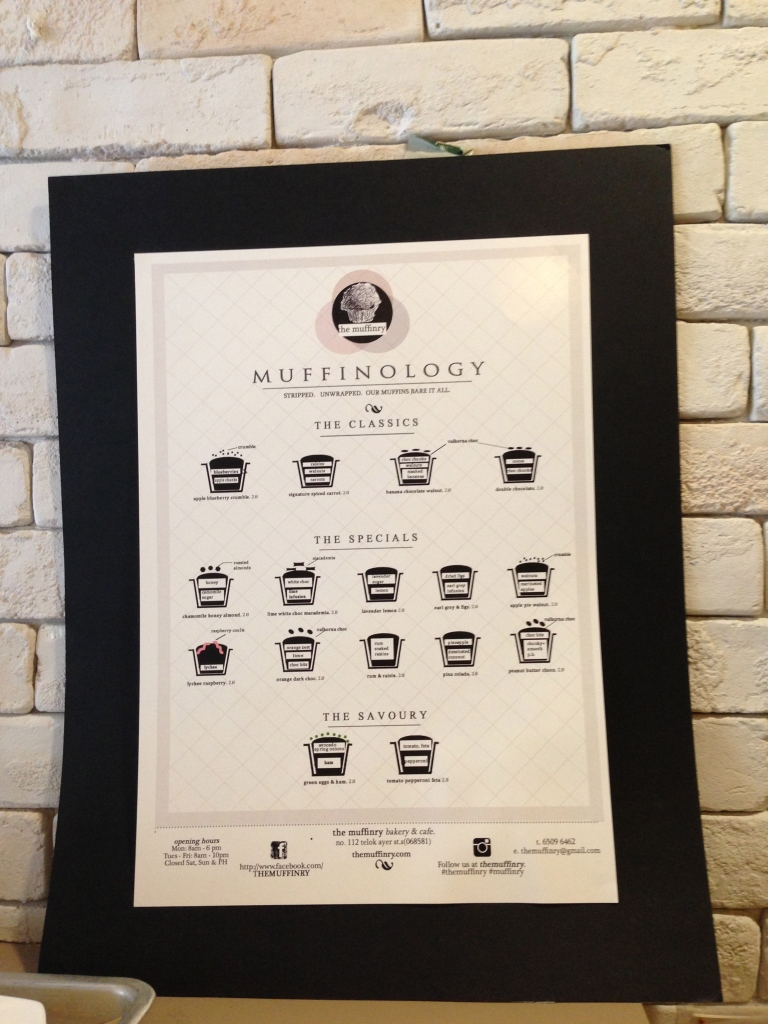 "The Muffinry menu - will be ""borrowing"" this idea..."