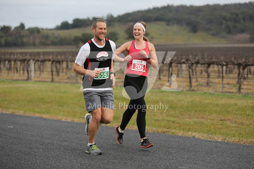 Having so much fun with Nate - about 6km in!