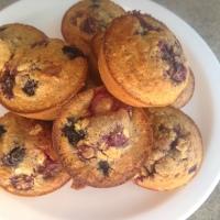 Mixed Berry and Muesli Muffins.